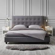 Polsterbett Frederico 180x200cm - Hellgrau, MODERN, Textil (189/113/215cm) - Modern Living
