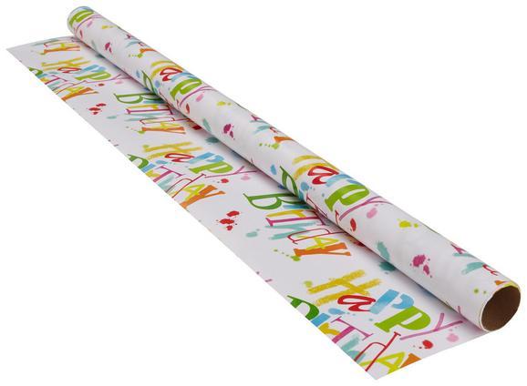 Geschenkpapier Marie in Bunt - Multicolor/Weiß, Papier (70/200cm)