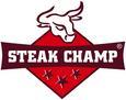 Steakchamp inkl. Steakbrett - Silberfarben, Metall