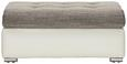 Hocker Weiß/Grau - KONVENTIONELL, Kunststoff/Textil (100/43/70cm) - Modern Living