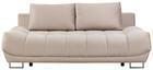 Schlafsofa In Cappuccino mit Bettfunktion - Schwarz/Cappuccino, MODERN, Textil/Metall (218/70-93/112cm) - Modern Living