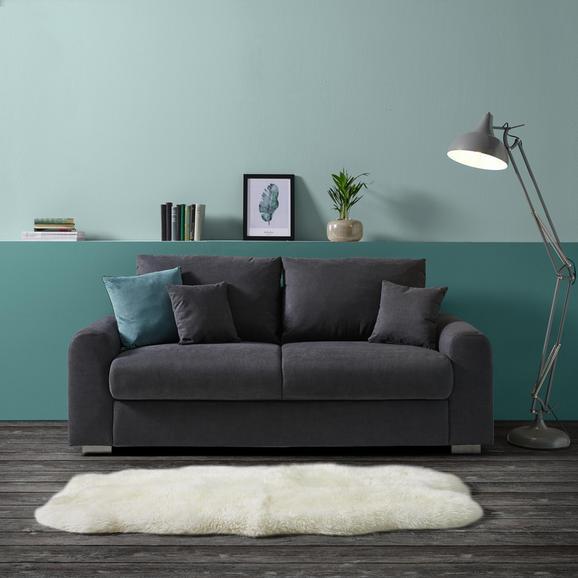 Dreisitzer Sofa Gerrard - Silberfarben/Grau, MODERN, Holz/Textil (202/84/89cm)