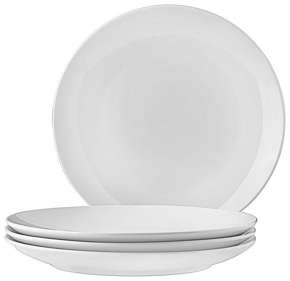 Dessertteller Billy in Weiß, 4 Stück - Weiß, Design, Keramik (20,5cm) - Mömax modern living