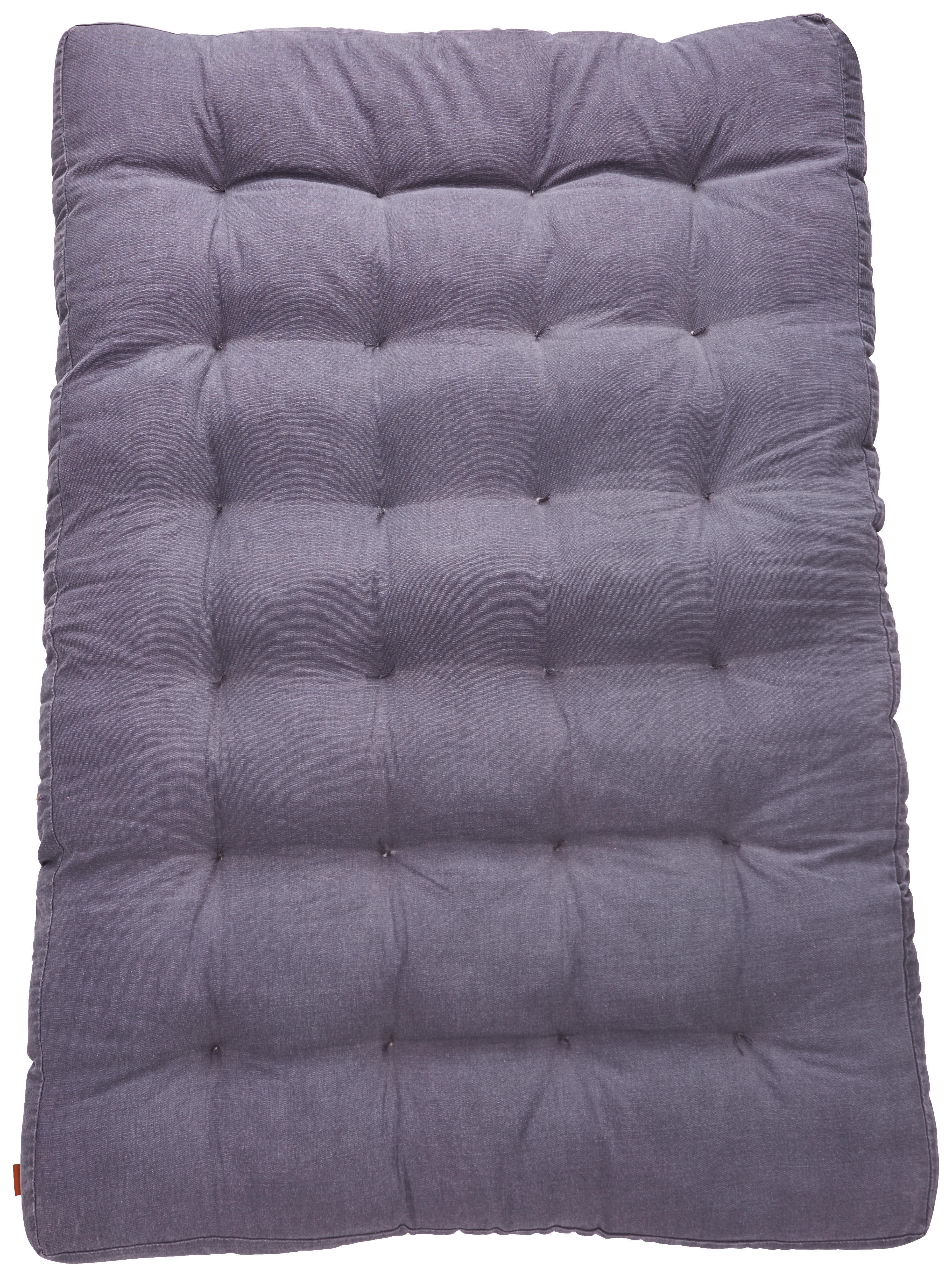 Gartensitzkissen Grau   Grau, Textil (120/80/7cm)   Premium Living