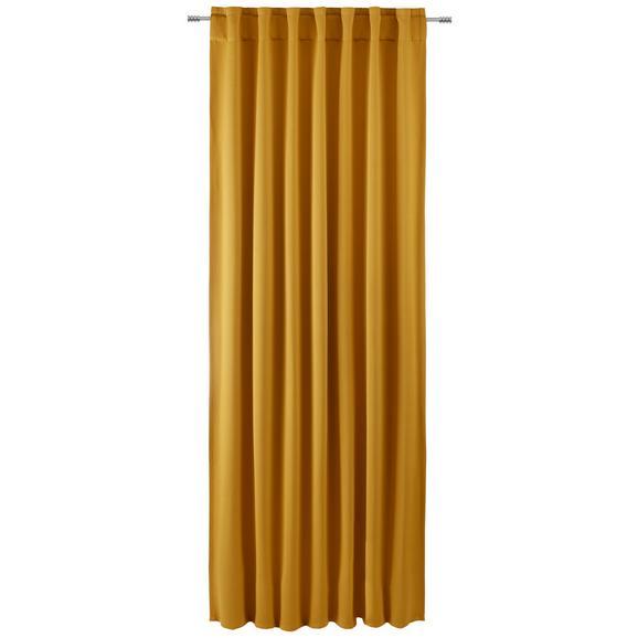 Draperie Opacă Ricardo - auriu, Lifestyle, textil (140/245cm) - Premium Living