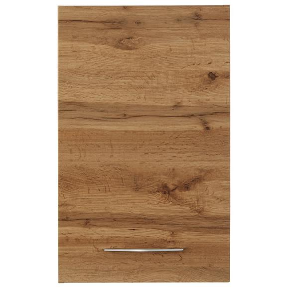 Oberschrank Eichefarben - Chromfarben/Eichefarben, MODERN, Holzwerkstoff/Metall (40/64/20cm)