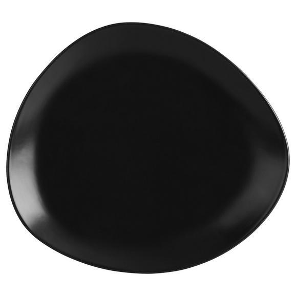 Dessertteller Nele aus Steinzeug in Schwarz - Schwarz, MODERN, Keramik (21/19/2,3cm) - Premium Living