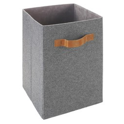 Aufbewahrungsbox Tahu - Braun/Grau, MODERN, Kunststoff/Textil (31/31/51cm) - Mömax modern living