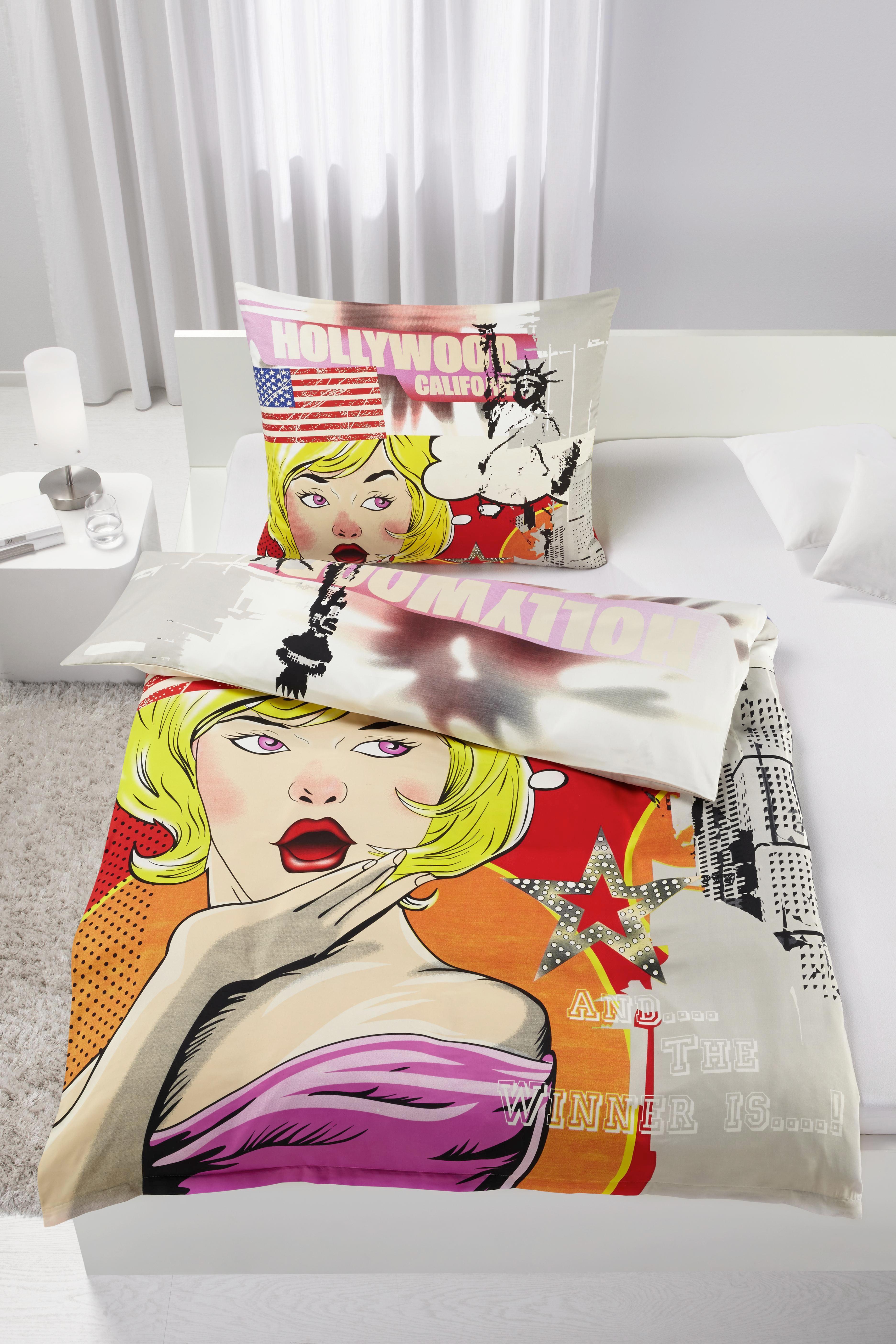 Ágyneműhuzat-garnitúra Hollywood - piros/narancs, Lifestyle, textil - MÖMAX modern living