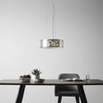 Pendelleuchte Emelle mit LED - Silberfarben, MODERN, Textil/Metall (40/110cm) - Modern Living