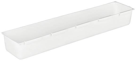 Tárolódoboz Fehér Színben - Fehér, Műanyag (7,5/37,5cm)