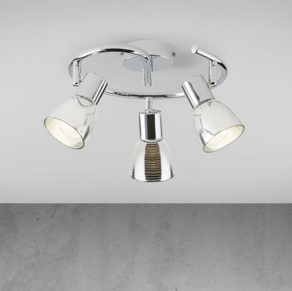 Deckenleuchte Carla - Chromfarben, MODERN, Glas/Metall (25/14cm) - Modern Living