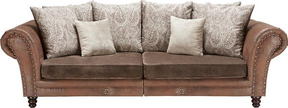 Velika Zofa Camarena - temno rjava, Trendi, tekstil/les (270/85/109cm) - Zandiara