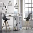 Barhocker Schlammfarben - Chromfarben/Schlammfarben, MODERN, Textil/Metall (45,50/88-109/47cm) - Modern Living