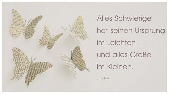 Postkarte Michael, ca. 12,5x23cm - Beige/Weiß, Papier (12,5/23cm) - Mömax modern living