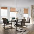 Stuhl in Taupe - Taupe/Schwarz, LIFESTYLE, Textil (47/92/70cm) - Modern Living
