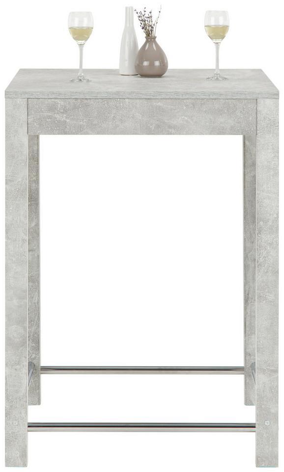 Bartisch Grau - Grau, MODERN, Holzwerkstoff/Metall (75/103/75cm) - Modern Living