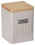 Box mit Deckel Cosima Taupe - Taupe, MODERN, Holz/Metall (11/11/14cm) - Zandiara