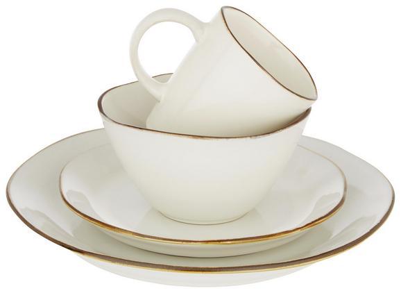 Kaffeebecher Aneta aus Steinzeug ca. 315ml - Weiß, LIFESTYLE, Stein (9,1/9,9cm) - Mömax modern living