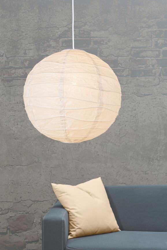 Leuchtenschirm Valentina in Weiß aus Papier - Weiß, Papier/Metall (40cm) - Based