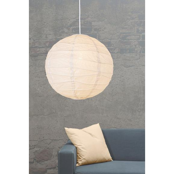 Leuchtenschirm Valentina Weiß - Weiß, Papier/Metall (40cm) - Based