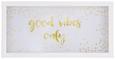 Wanddeko Jona Weiß/Goldfarben - Goldfarben/Weiß, Glas/Holzwerkstoff (45,8/22,9/3,4cm) - Mömax modern living