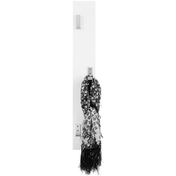 Wandgarderobe Weiß - Weiß, MODERN, Holzwerkstoff (15/115cm)