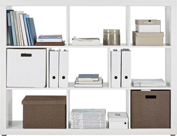 Raumteiler Weiß - Weiß, Holzwerkstoff (152,4/119,8/34cm) - Mömax modern living