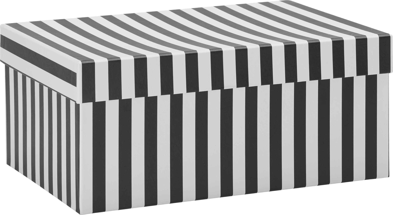 Geschenkbox Vera in Schwarz/Weiß - Schwarz/Weiß, MODERN, Karton (25,5/18/11cm) - MÖMAX modern living