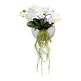 Plantă Artificială Phalaenopsis Ii - alb/verde, Basics, ceramică/plastic (25cm)