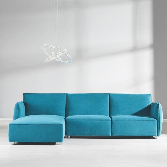 Wohnlandschaft Richy - Blau, MODERN, Textil (288/171cm) - Mömax modern living