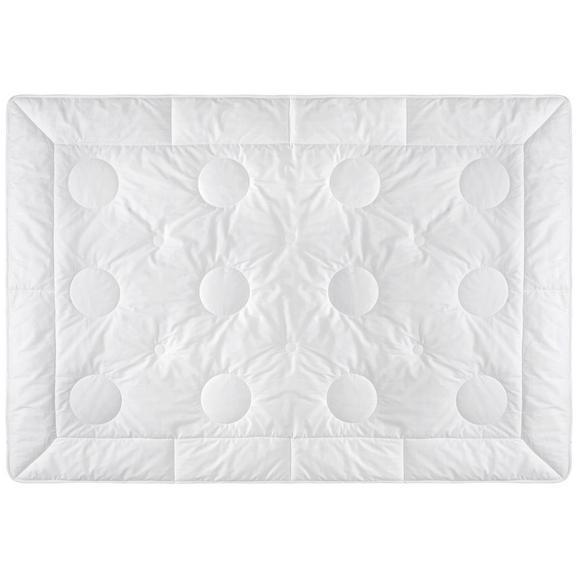 Kassettendecke Wildseide ca. 135-140x200cm - Weiß, Textil (135/200cm) - Premium Living