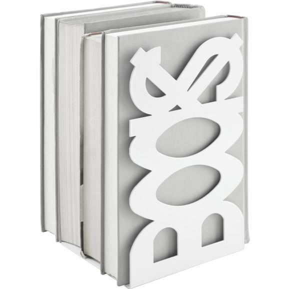 Buchstütze aus Metall - Weiß, Metall (12/21/11cm) - Mömax modern living