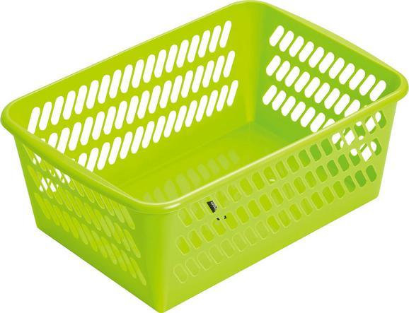 Košara Mimi - svetlo zelena, umetna masa (36,5/14,4/25,5cm) - Mömax modern living