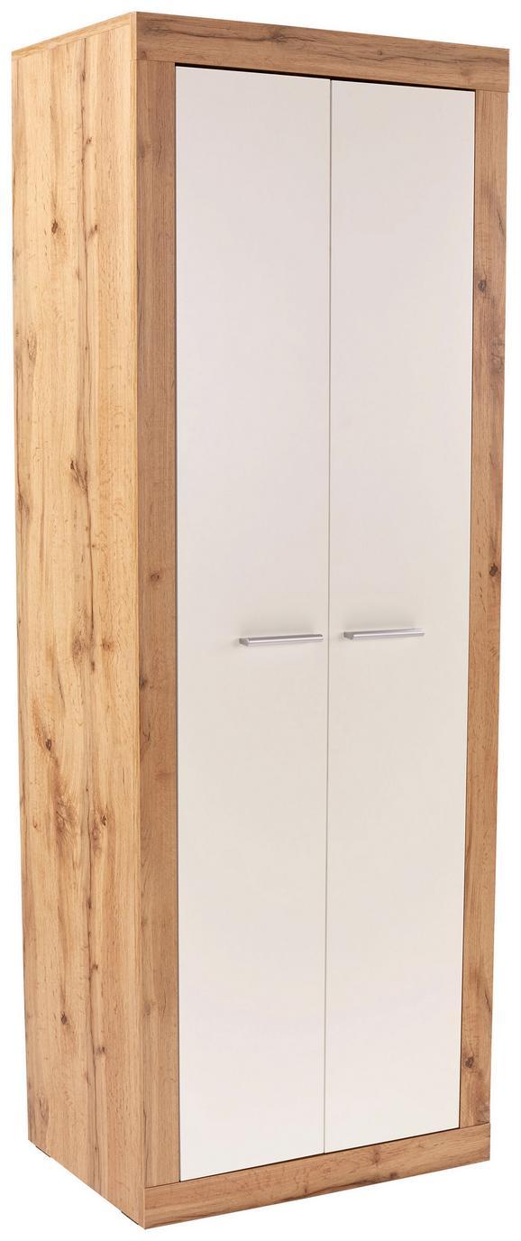 Pisarniška Omara Living - bela/hrast, Moderno, leseni material (74/188/37cm) - Mömax modern living