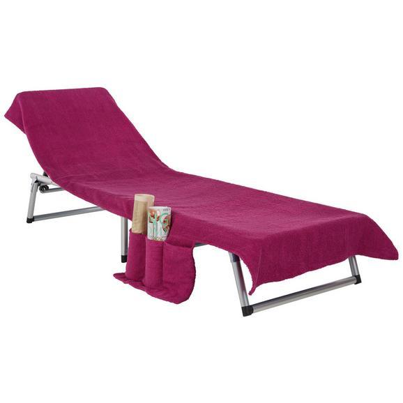 Brisača Za Na Plažo Enrico - roza/siva, tekstil (70/200cm) - Mömax modern living