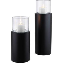 Lámpás Fire Tower - Átlátszó/Fekete, Üveg/Fém (23/52cm) - Mömax modern living