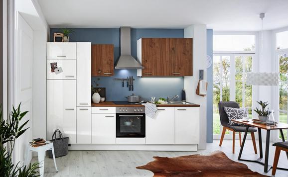 Küchenblock Eco/Artwood Weiß/Eichefarben - Eichefarben/Weiß (310cm)
