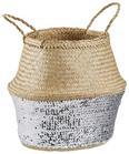 Cvetlični Lonček Dalilah - večbarvno/srebrna, umetna masa/ostali naravni materiali (35/35cm) - Modern Living