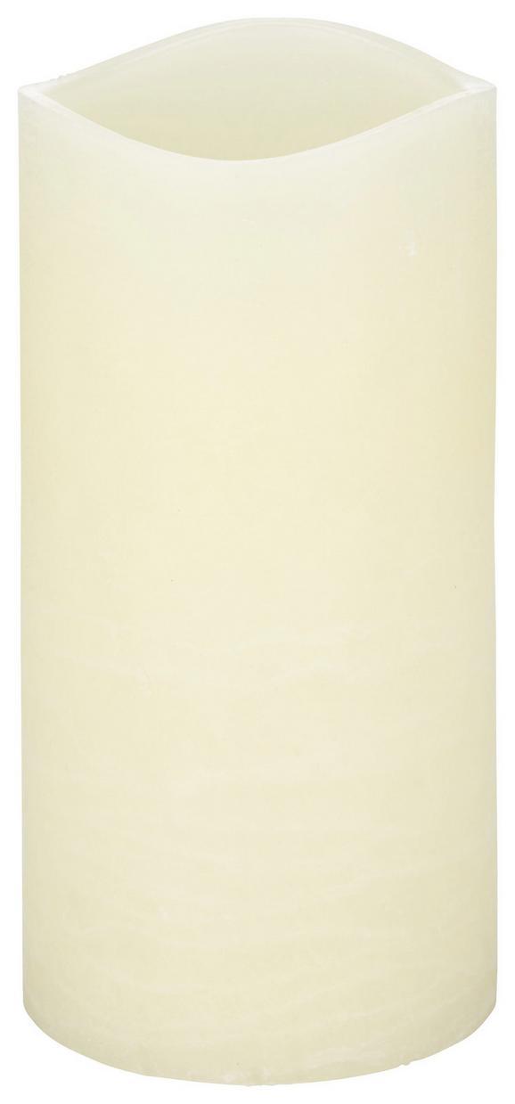 Kerze mit Led Rene in Weiß - Weiß (10/20cm) - MÖMAX modern living