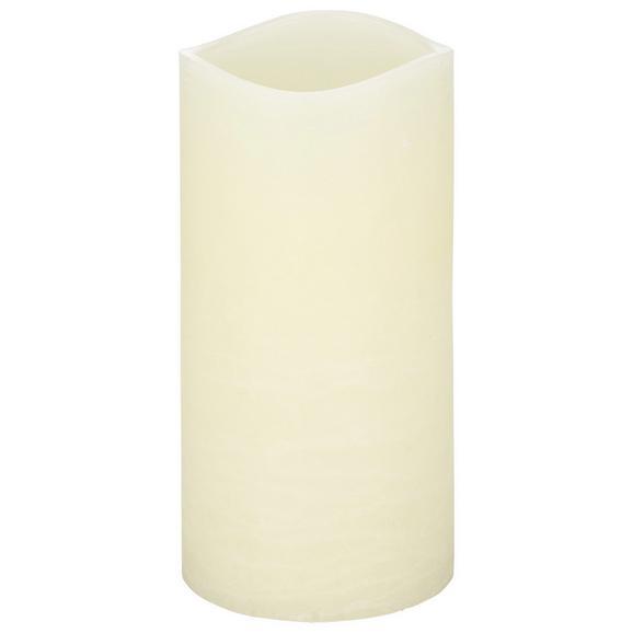 Kerze mit Led Rene Weiß - Weiß (10/20cm) - Mömax modern living