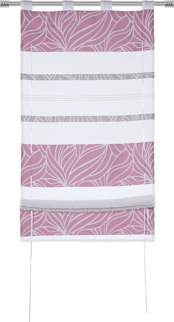 Bändchenrollo Anita, ca. 100x140cm - Lila, KONVENTIONELL, Textil (100/140cm) - Mömax modern living