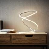 LED-Tischleuchte Reggie - Silberfarben/Weiß, MODERN, Kunststoff/Metall (26/26/35cm) - Modern Living