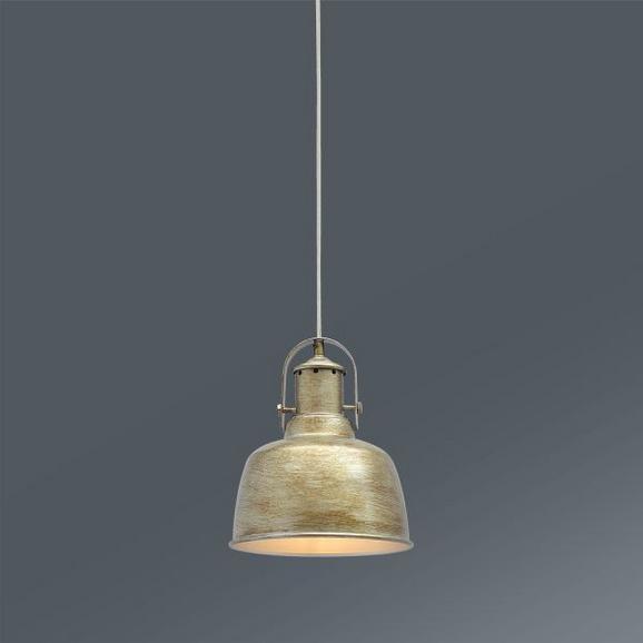 Hängeleuchte Kim, max. 1x60 Watt - Goldfarben/Grau, LIFESTYLE, Metall (22,5/120cm) - Mömax modern living