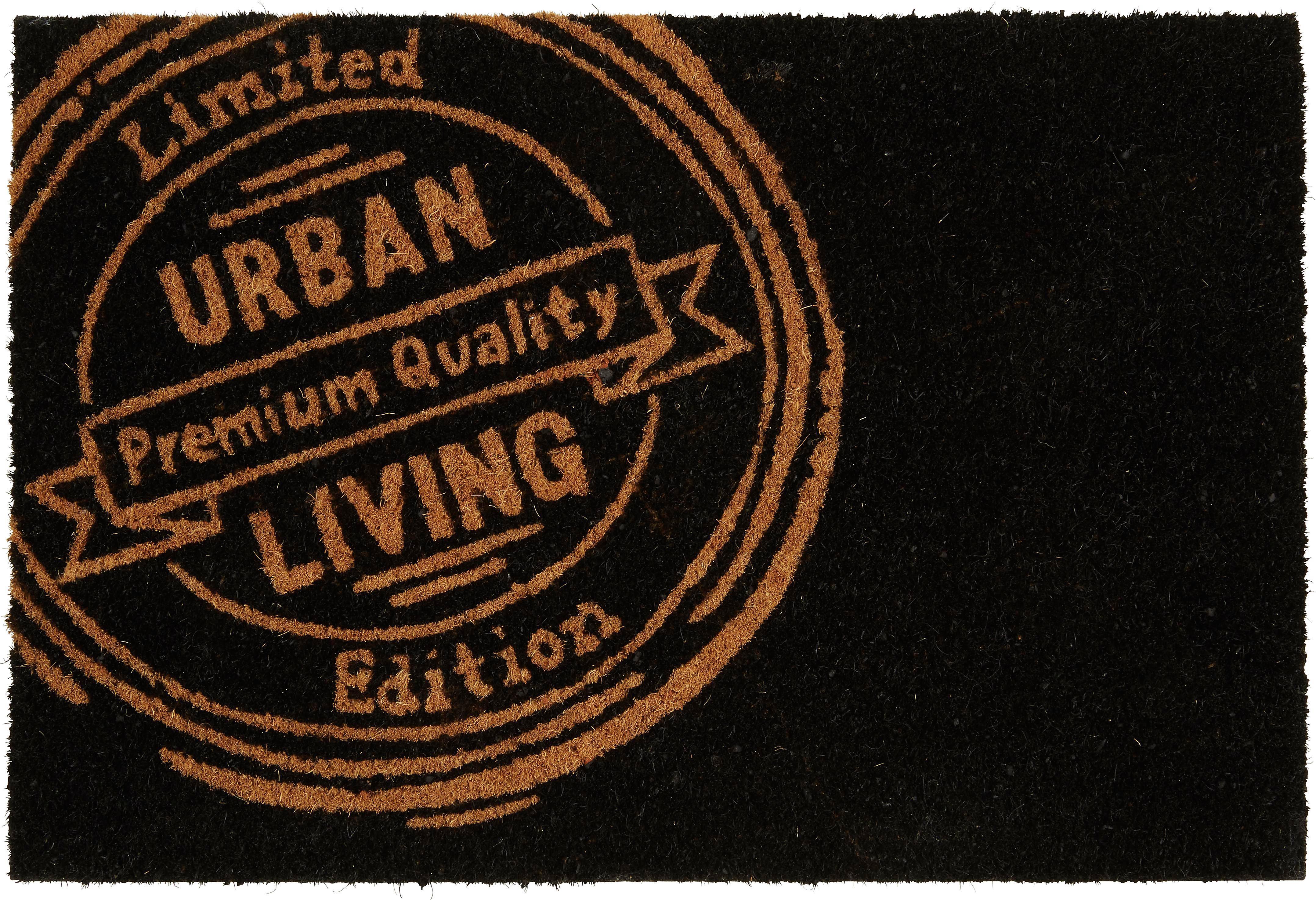 Lábtörlő Urban Living - fekete, műanyag/textil (40/60cm) - MÖMAX modern living