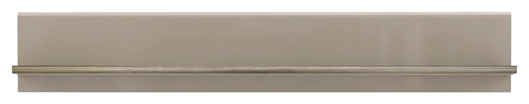 Falipolc Tiziano - bézs/tölgy színű, modern, műanyag/fém (143,8/23,5/25cm)