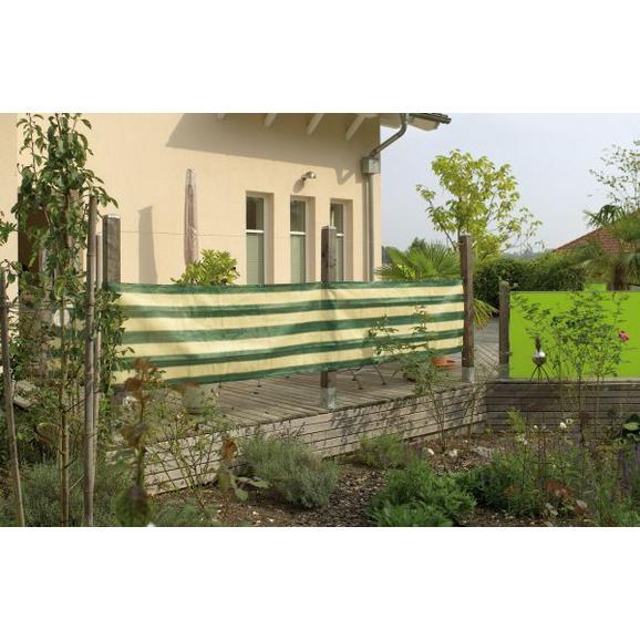 Erkélytakaró Ponyva 534334 - Zöld/Fehér (500/0,75cm)