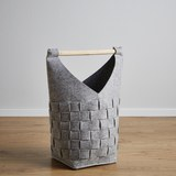 Korb Cui Höhe 56 cm - Grau, MODERN, Textil (25/25/56cm)