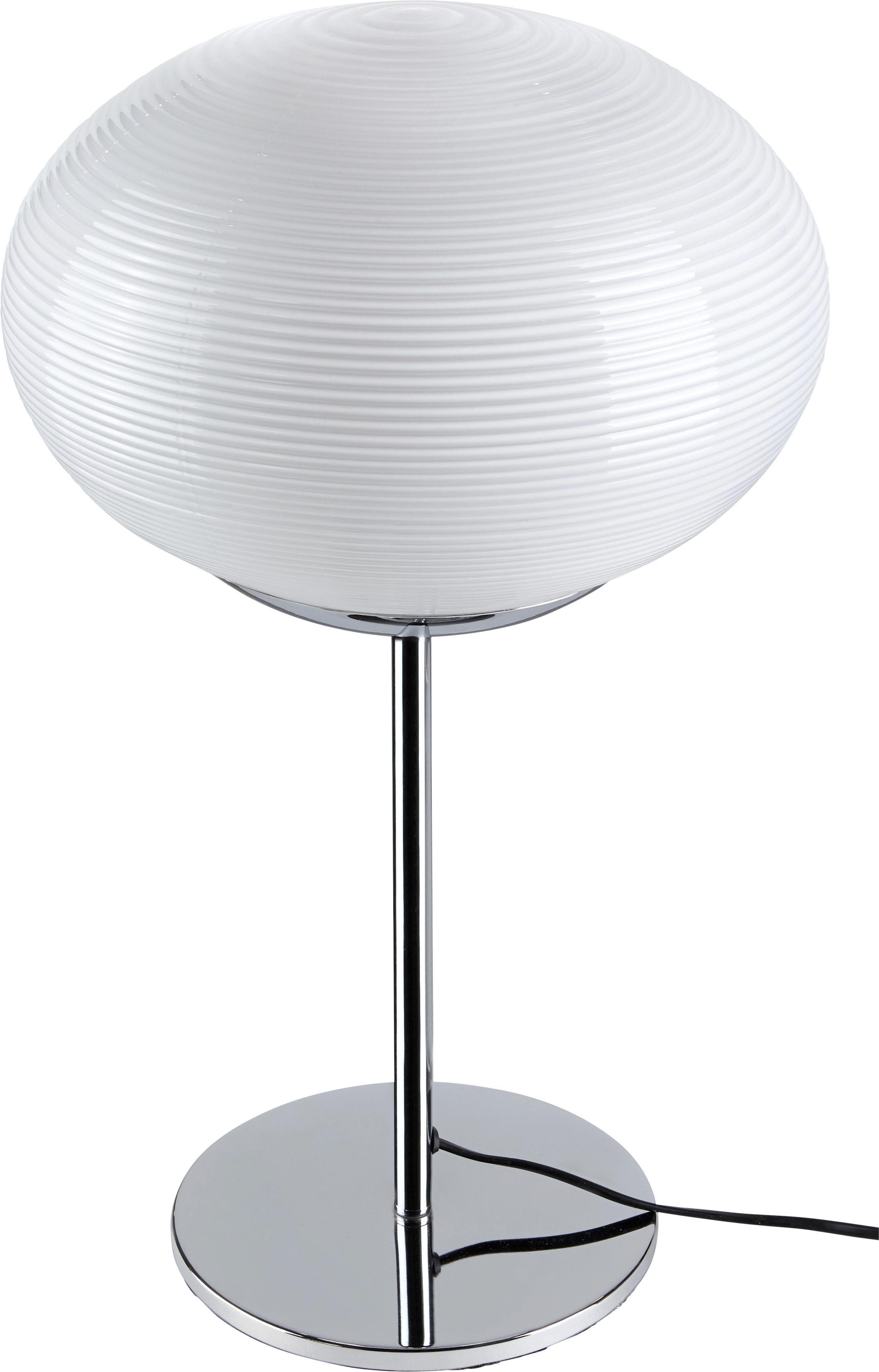 Tischleuchte Florica - Chromfarben, MODERN, Glas/Metall (30/55cm) - PREMIUM LIVING