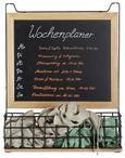 Memoboard Cage Braun/Schwarz - Schwarz/Naturfarben, MODERN, Holz/Holzwerkstoff (39,5/48/12,5cm) - Modern Living